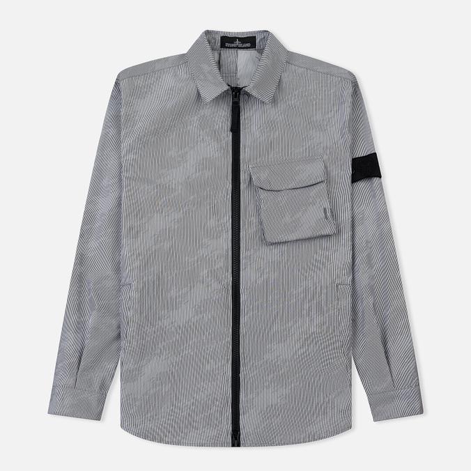 Мужская куртка Stone Island Shadow Project Lenticular Jacquard Zip Shirt Black