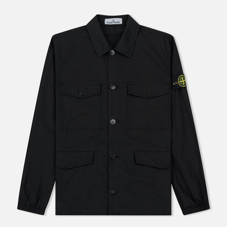 Мужская куртка Stone Island Structured Cotton Overshirt Black