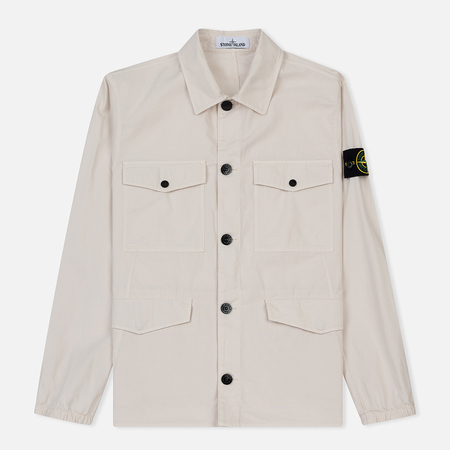 Мужская куртка Stone Island Structured Cotton Overshirt Ice
