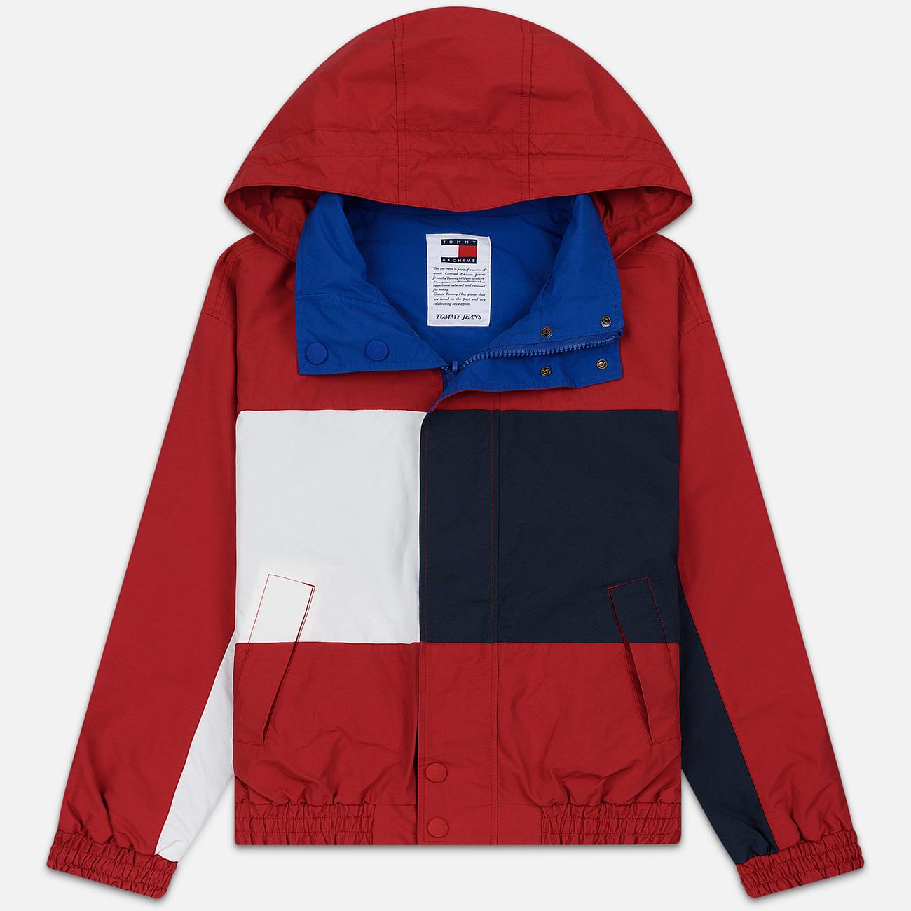 Мужская куртка Tommy Jeans Flag Reverse Jester Red/Multi