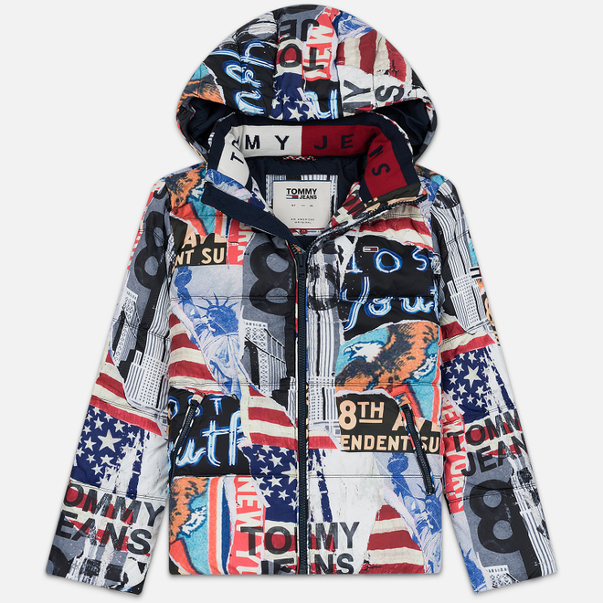 Мужская куртка Tommy Jeans Patterned Flag Print Multicolor