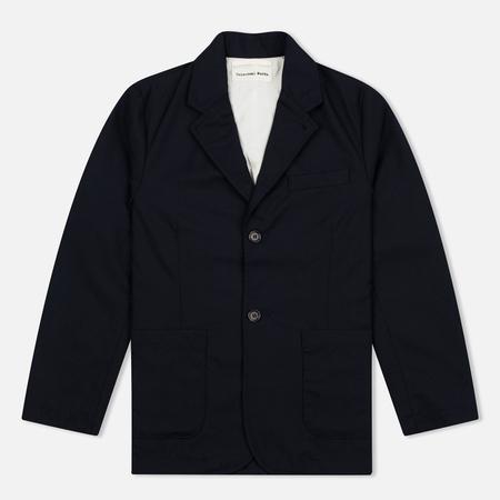 Universal Works Two Button Men's Jacket Caberdine Navy