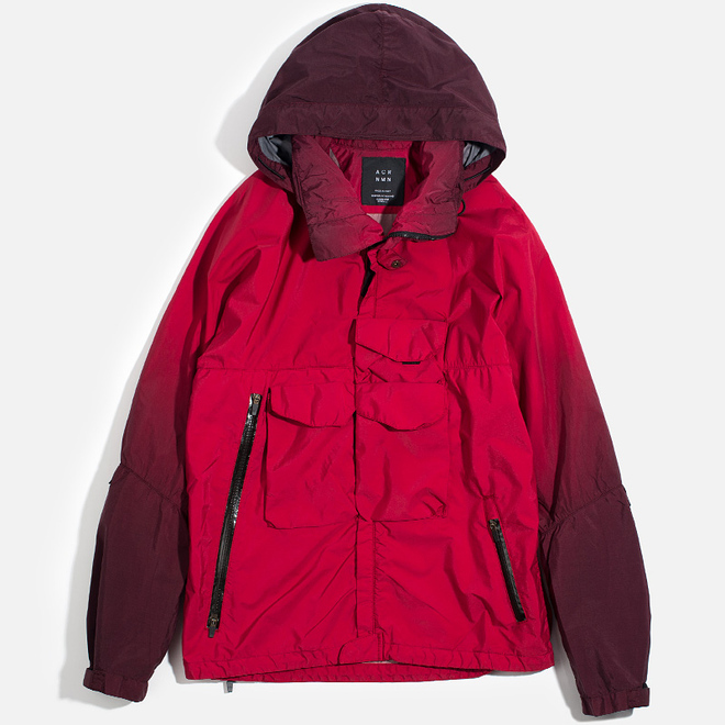 Мужская куртка ветровка Acronym x Nemen Hardshell Object Dyed Dark Pink/Ink Black