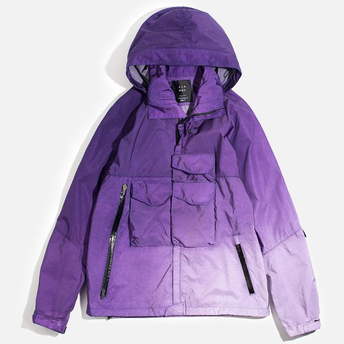 Мужская куртка ветровка Acronym x Nemen Hardshell Object Dyed Dark Purple/White