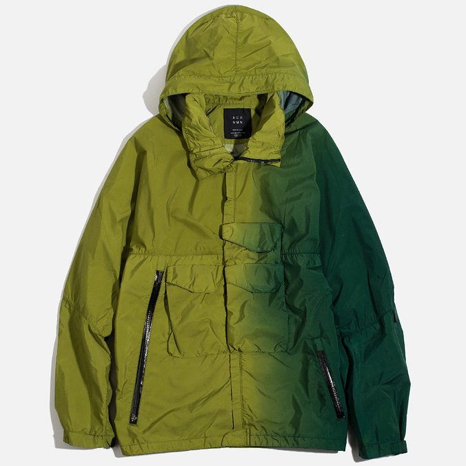 Мужская куртка ветровка Acronym x Nemen Hardshell Object Dyed Leaf Green/Bottle Green