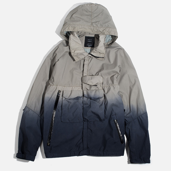 Мужская куртка ветровка Acronym x Nemen Hardshell Object Dyed Light Grey/Blue Denim