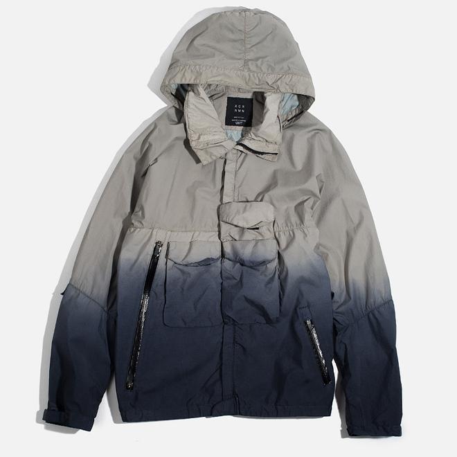 Мужская куртка ветровка Acronym x Nemen Hardshell Object Dyed Light Grey/Blue Denim