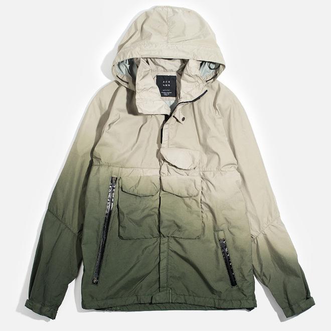 Мужская куртка ветровка Acronym x Nemen Hardshell Object Dyed Sand/Olive