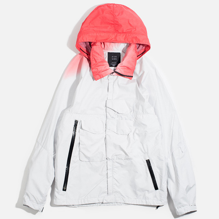 Мужская куртка ветровка Acronym x Nemen Hardshell Object Dyed White/Dirty Orange