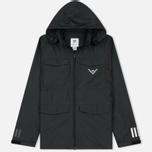 Мужская куртка ветровка adidas Originals x White Mountaineering Field Black фото- 0