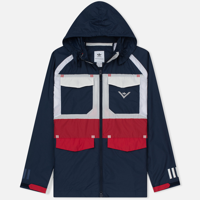 Мужская куртка ветровка adidas Originals x White Mountaineering Field Collegiate Navy