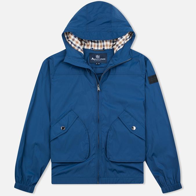 Мужская куртка ветровка Aquascutum Beacons Hooded Blue