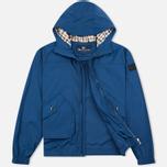 Мужская куртка ветровка Aquascutum Beacons Hooded Blue фото- 1