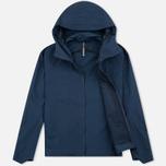 Мужская куртка ветровка Arcteryx Veilance Isogon Navy Blue фото- 1