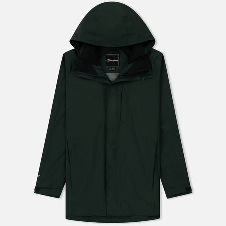 Мужская куртка ветровка Berghaus Long Hillwalker Dark Green/Dark Green