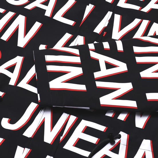 Мужская куртка ветровка Calvin Klein Jeans All-Over Logo Black Exploded Hashtag