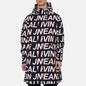 Мужская куртка ветровка Calvin Klein Jeans All-Over Logo Black Exploded Hashtag фото - 3