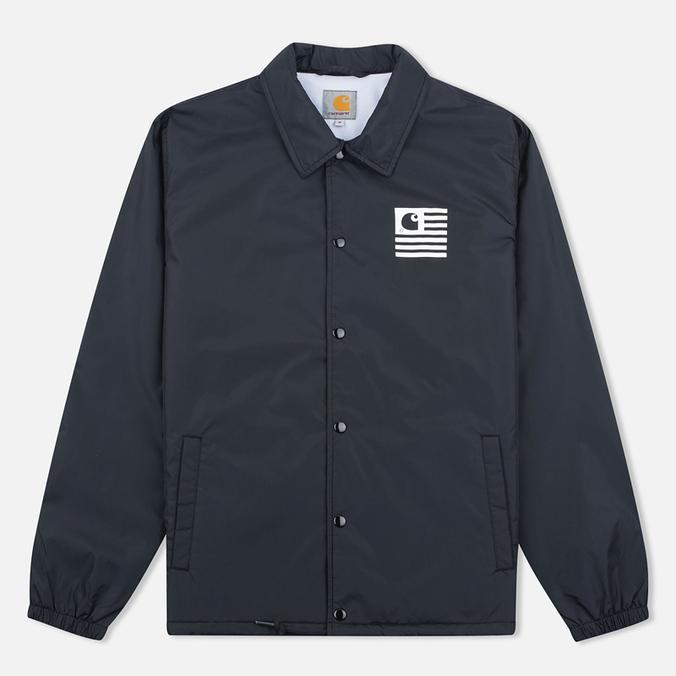 Мужская куртка ветровка Carhartt WIP State Coach Black/White