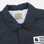 Мужская куртка ветровка Carhartt WIP State Coach Black/White фото- 2