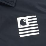 Мужская куртка ветровка Carhartt WIP State Coach Black/White фото- 3