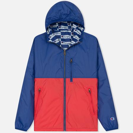 Мужская куртка ветровка Champion Reverse Weave Bilateral Blue/Red