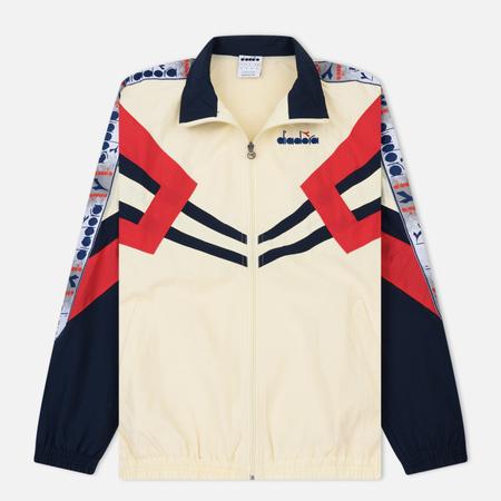 Мужская куртка ветровка Diadora MVB Full Zip Ivory White