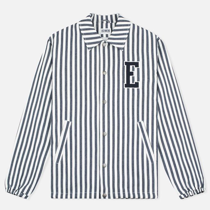Мужская куртка ветровка Edwin Coach Cotton Hichory Blue Stripe