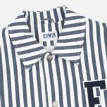 Мужская куртка ветровка Edwin Coach Cotton Hichory Blue Stripe фото- 2