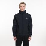 Мужская куртка ветровка Fred Perry Hooded Brentham Navy фото- 7