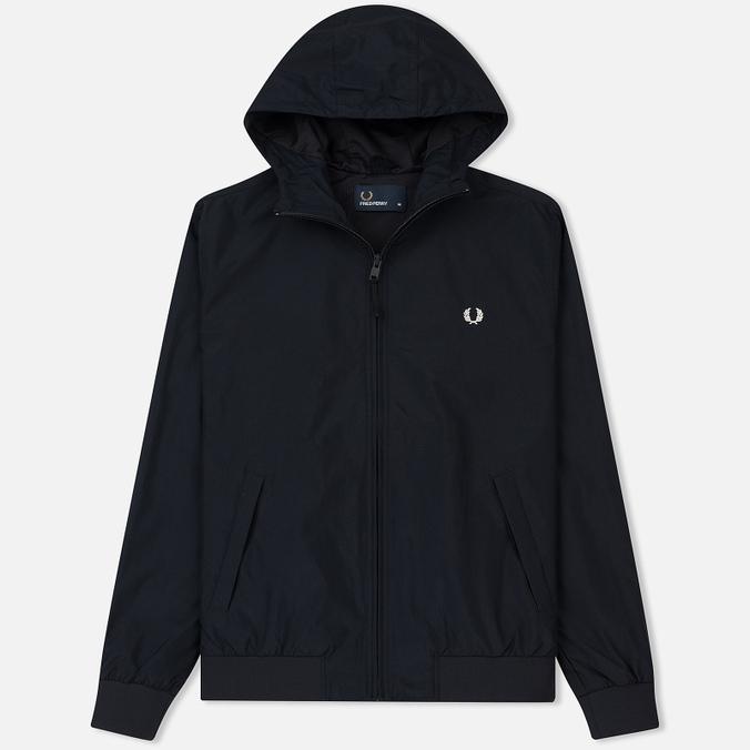 Мужская куртка ветровка Fred Perry Hooded Brentham Navy