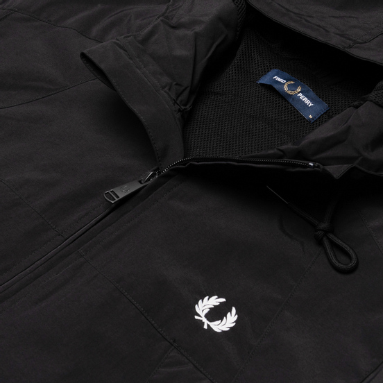 Мужская куртка ветровка Fred Perry Panelled Zip Black