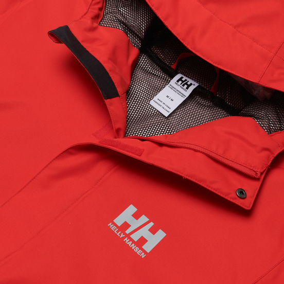Мужская куртка ветровка Helly Hansen Seven J Alert Red