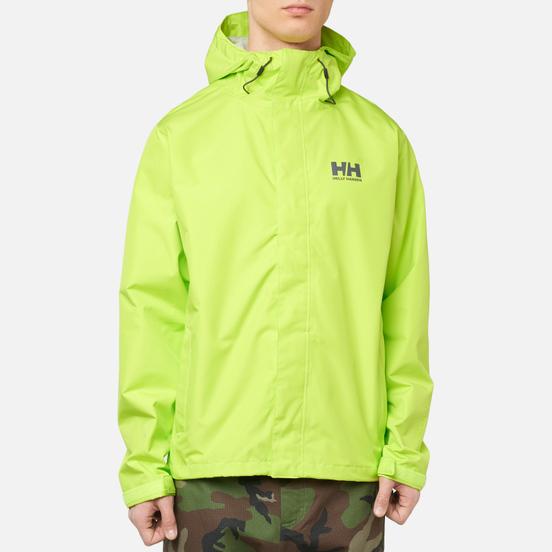 Мужская куртка ветровка Helly Hansen Seven J Azid Lime