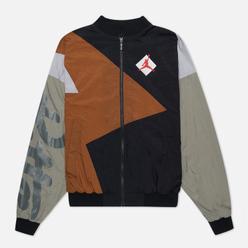 Мужская куртка ветровка Jordan x Patta NRG Jumpman Black/Light British Tan/River Rock