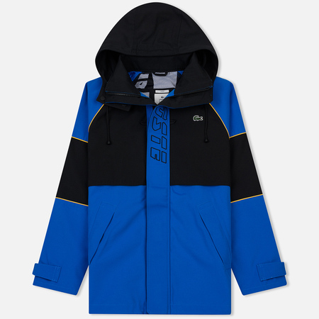 Мужская куртка ветровка Lacoste Live Unisex Embroidery Colourblock Blue/Black/Yellow