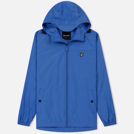 Мужская куртка ветровка Lyle & Scott Zip Through Hooded Cornflower Blue
