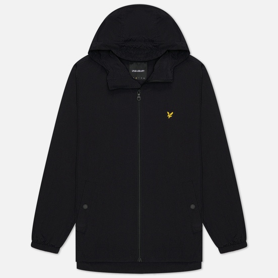 Мужская куртка ветровка Lyle & Scott Zip Through Hooded Jet Black