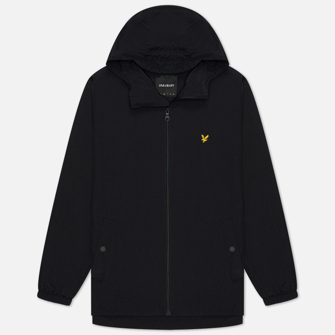 Мужская куртка ветровка Lyle & Scott Zip Through Hooded Jacket Jet Black