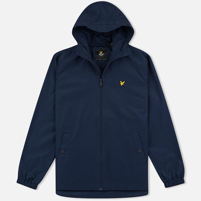 Мужская куртка ветровка Lyle & Scott Zip Through Hooded Navy