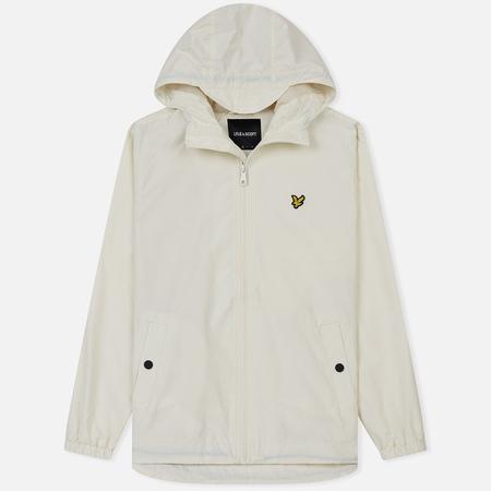 Мужская куртка ветровка Lyle & Scott Zip Through Hooded Snow White