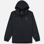 Мужская куртка ветровка Lyle & Scott Zip Through Hooded True Black фото- 0