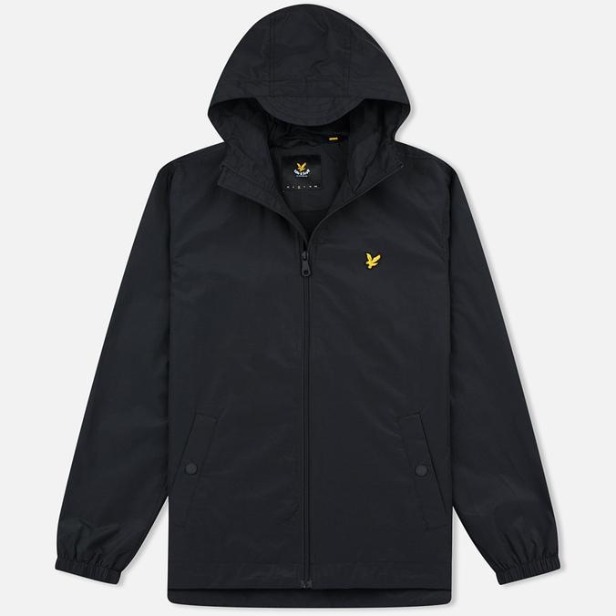 Мужская куртка ветровка Lyle & Scott Zip Through Hooded True Black
