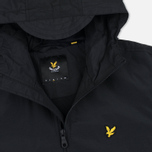 Мужская куртка ветровка Lyle & Scott Zip Through Hooded True Black фото- 2