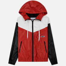 Мужская куртка ветровка MSGM With Logo Patch Red фото- 0