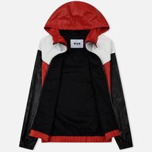 Мужская куртка ветровка MSGM With Logo Patch Red фото- 1