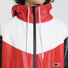 Мужская куртка ветровка MSGM With Logo Patch Red фото- 4