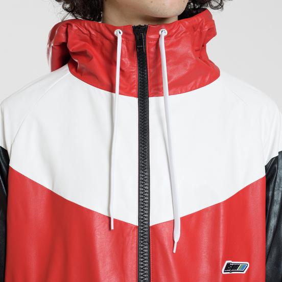 Мужская куртка ветровка MSGM With Logo Patch Red