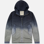 Мужская куртка ветровка Nemen Wind Breaker Garment Dyed Light Grey/Blue Denim фото- 0