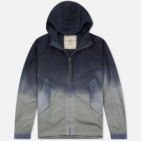Nemen Wind Breaker Garment Men's Windbreaker Dyed Light Grey/Blue Denim