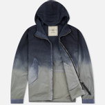 Мужская куртка ветровка Nemen Wind Breaker Garment Dyed Light Grey/Blue Denim фото- 1